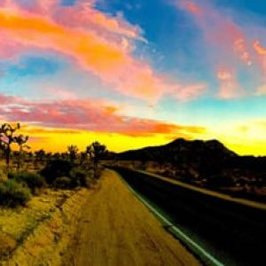 JT SUNSET PANO Road